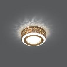 Светильник Gauss Backlight BL092 Кругл. Золото/Белый, Gu5.3, 3W, LED 3000K