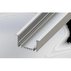 СПВ50-6232 светодиодный профиль врезной, алюминиевый, анодированный 2000х62х32мм