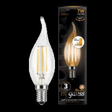 Лампа Gauss LED Filament Свеча на ветру E14 7W 2700K step dim