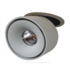 Светильник потолочный светодиодный встраиваемый поворотный T003112-KZ-12-BL-WW 12Вт 3000К