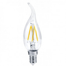 Лампа филаментная прозрачная СВЕЧА НА ВЕТРУ  E14 7W 630Лм 4000К Дневная-белая In HOME