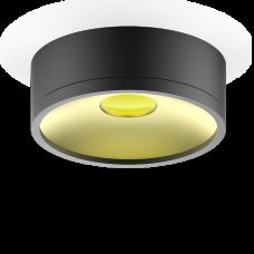 LED светильник накладной  HD027 17W (черный/золото) 3000K 140х50мм