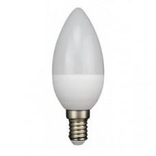 Лампа светодиодная E14 СВЕЧА 6W 470Лм 3000К Тепло-белая LEEK