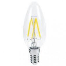 Светодиодная филаментная лампа E14 СВЕЧА 6W 500Лм 4200К Дневная белая Horoz El