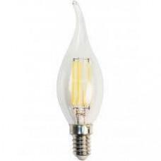 Светодиодная филаментная лампа E14 СВЕЧА НА ВЕТРУ 6W 500Лм 4200К Дневная белая Horoz El
