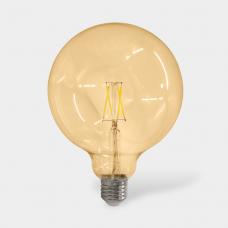 Светодиодная лампа золотистая ШАР 17LED-G95-8W-230-3000K-E27-G SWEKO
