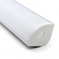 Профиль алюминиевый угловой для двухрядной ленты BEST 3030 2м (комплект)