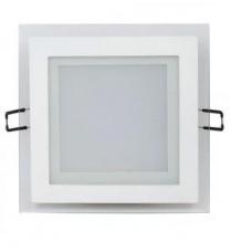 Светильник встраиваемый со стеклом КВАДРАТ 15W, 1150Лм, 4200К, 200х200х40мм (врез 160х160мм) HOROZ