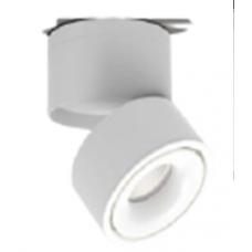 Светильник потолочный светодиодный, серия LD, Матовый белый, 12Вт, IP20, Теплый белый (3000К)