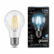 Лампа Gauss LED Filament A60 E27 10W 970lm 4100К