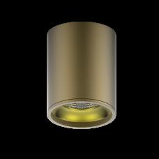 LED светильник накладной HD001 12W (кофе золото) 3000K 79x100мм