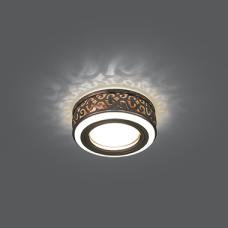 Светильник Gauss Backlight BL093 Кругл. Бронза/Белый, Gu5.3, 3W, LED 3000K