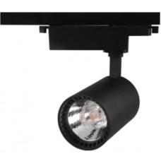 Трековый светодиодный светильник TL63,  30Вт, 3000К, 2300Лм, 24°, φ88*H190 черный