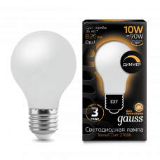 Лампа Gauss LED Filament A60 OPAL dimmable E27 10W 2700К
