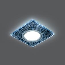 Светильник Gauss Backlight BL068 Квадрат. Черный/Серебро/Хром, Gu5.3, LED 4100K