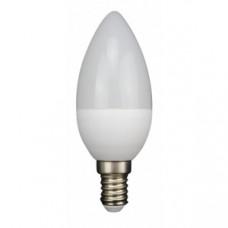 Лампа светодиодная E14 СВЕЧА 6W 480Лм 4000К Дневная белая LEEK
