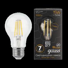 Лампа Gauss LED Filament Graphene A60 E27 15W 2700К