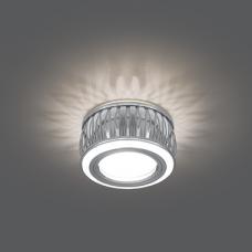 Светильник Gauss Backlight BL095 Кругл. Хром/Белый, Gu5.3, 3W, LED 3000K
