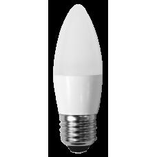 Светодиодная лампа СВЕЧА С35-7W-230-3000K-E27-580лм тепло-белая SWEKO