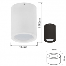 Светильник накладной алюм. удлин.(бочонок) 5W 4200К  IP20  Белый HOROZ