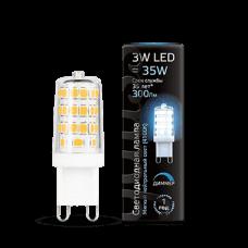 Лампа Gauss LED G9 AC185-265V 3W 300lm 4100K диммируемая