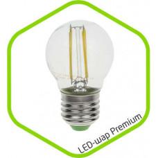 Лампа филаментная прозрачная ШАР E27 7W 4100K 630Lm IN HOME