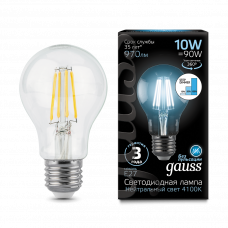 Лампа Gauss LED Filament A60 E27 10W 4100К step dimmable