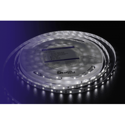 Лента светодиодная LUX CRI 93 SMD 3528 60 led/4,8w на метр 12V IP33 420lm белая 6000К 5000×8×2мм Des