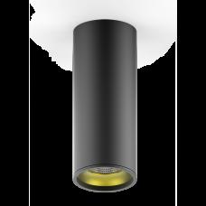 LED светильник накладной HD009 12W (черный золото) 3000K 79x200мм